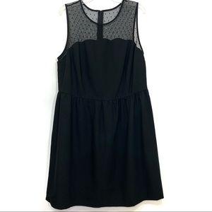 Truly Poppy Elan Dot Mesh Scallop Dress